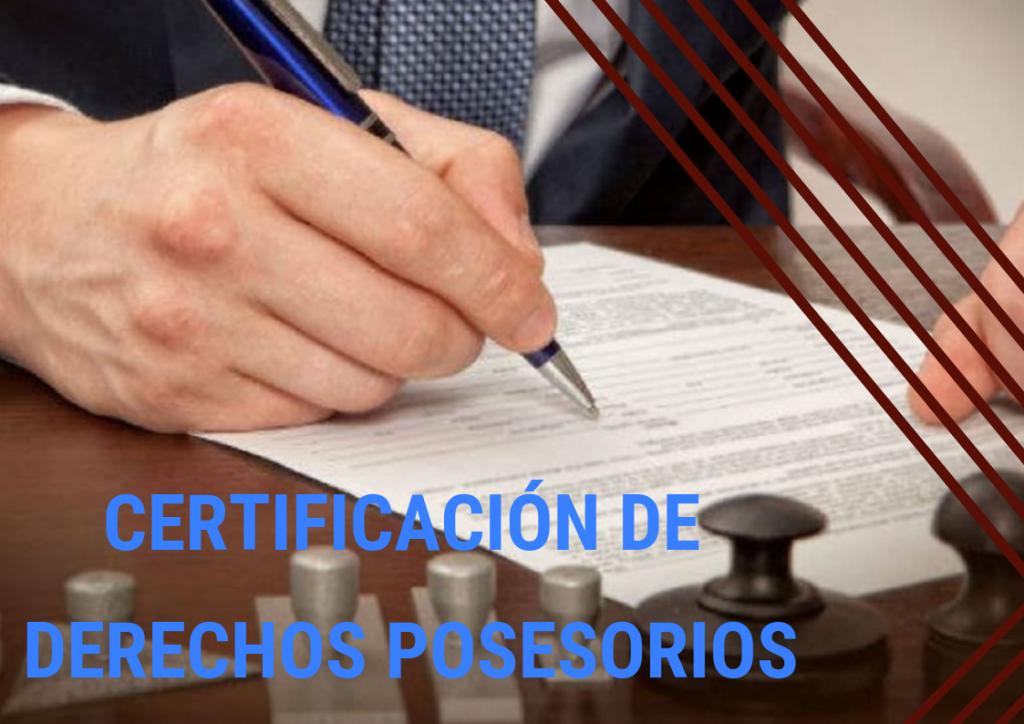 Certificación notarial de firmas de declaración jurada de derechos posesorios